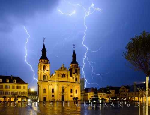Ludwigsburg im Gewitter