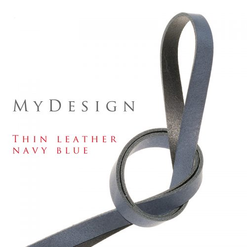 Qik:Strap MyDesign thin leather navy blue