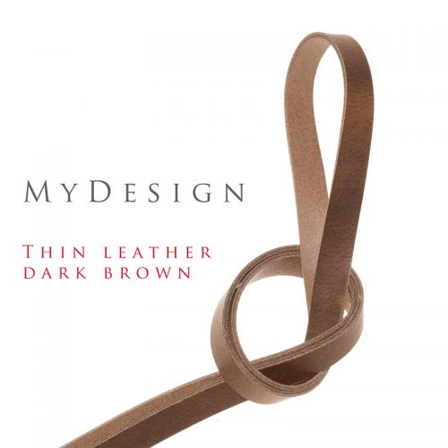 Qik:Strap MyDesign thin leather darkbrown